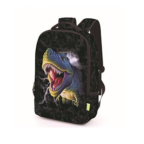 JYFG Rucksack Männer Frauen Rucksack 3D Dinosaurier Druck Laptop Tasche Student Rucksack Outdoor-reisen Schwarz black rRt3Ue9