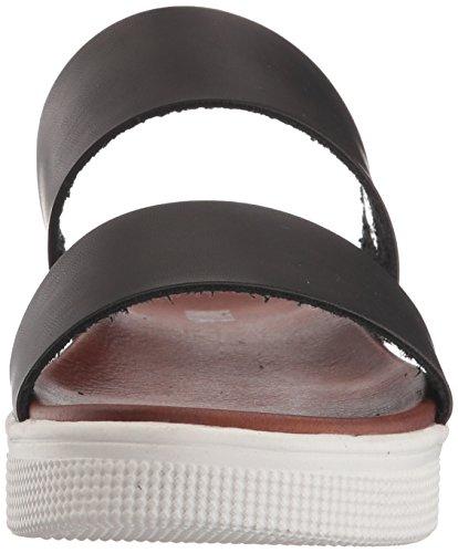 MIA Women's Saige Flat Sandal, Black Black