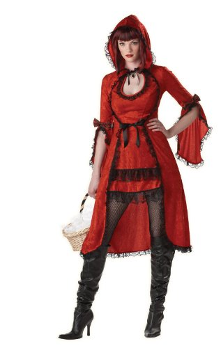 California Costumes Women's Red Riding Hood/Adult Costume,Red/Black,Medium