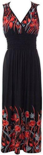 Livativ Maxi Dresses – V Neck Printed Floral Dress