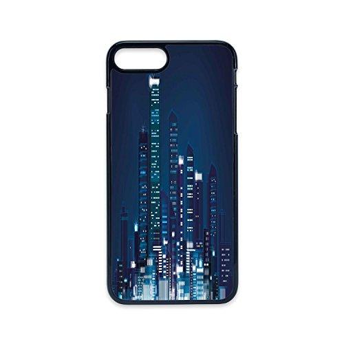 Phone Case Compatible with iPhone7 Plus iPhone8 Plus 2D Print Black Edge