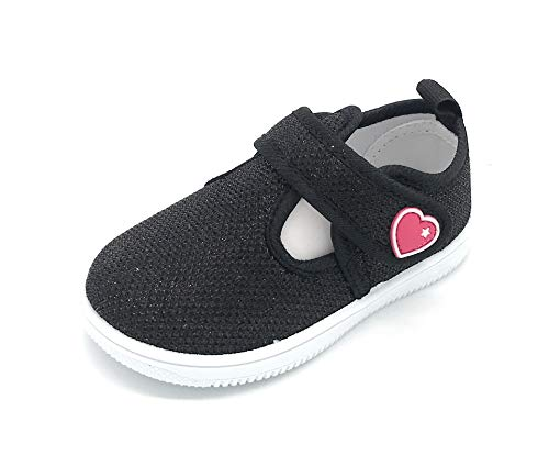 Blue Berry Toddler Tennis Shoes for Girls & Boys Breathable Mesh Light Weight Athletic Running Walking Casual Shoes (8 M US Toddler, 03BLACK)]()