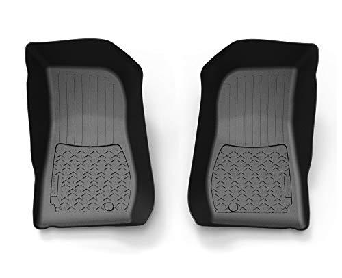 Tyger Auto Floor Liner for 2014-2018 Jeep Wrangler JK Front Floor Liners 2pc | Textured Black Floor Mats