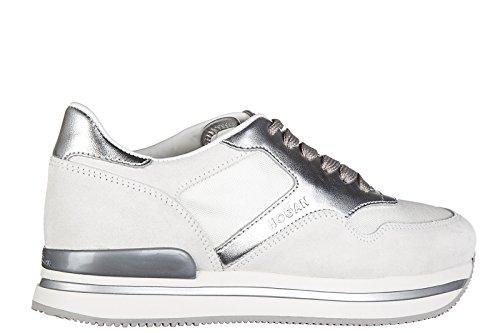 Hogan Kvinna Skor Mocka Utbildare Sneakers H222 Sportivo Xl Allacciato Grå