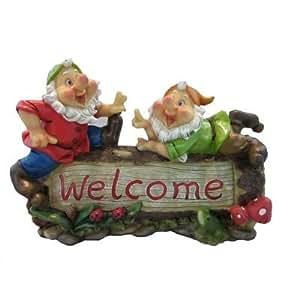 Los amantes de los Garden diseño de gnomo Welcome Sign [E95980] (diseño de ionizacion térmica)