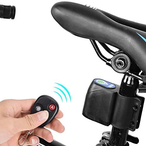 Wireless Remote Control Vibration Bicycle Alarm, Anti-theft Bike Lock Cycling Security Lock Alarm, Cycling Lock Anti-theft Guard Burglar Alarm