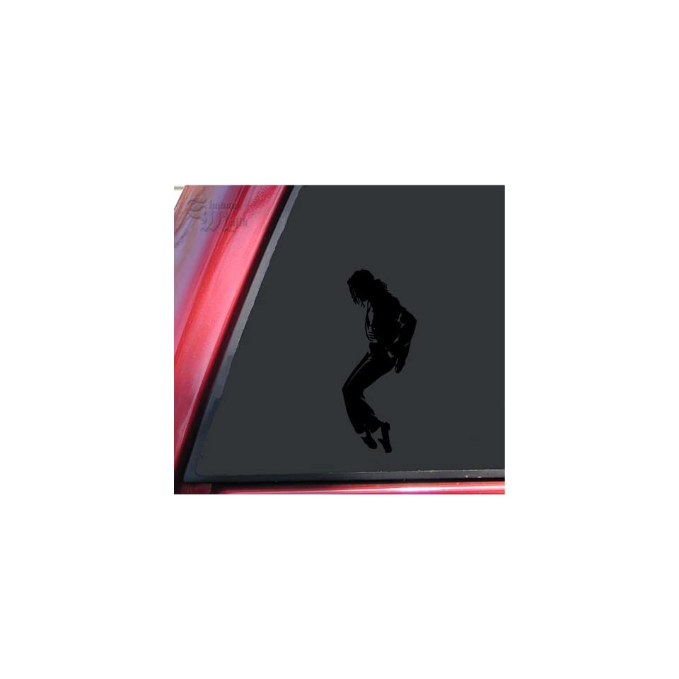Michael Jackson Silhouette Vinyl Decal Sticker   Black