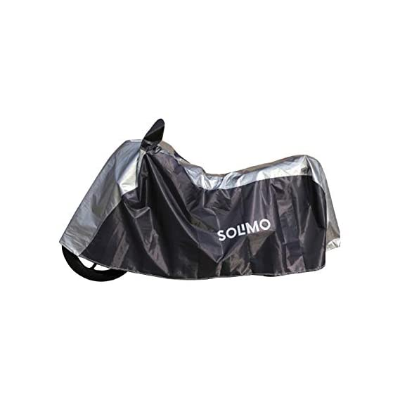 Amazon Brand - Solimo Universal Bike UV Protection & Dustproof Bike Cover (Dark Blue & Silver)