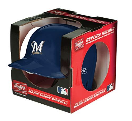 Rawlings MLB Milwaukee Brewers Mini Replica Helmet, Blue