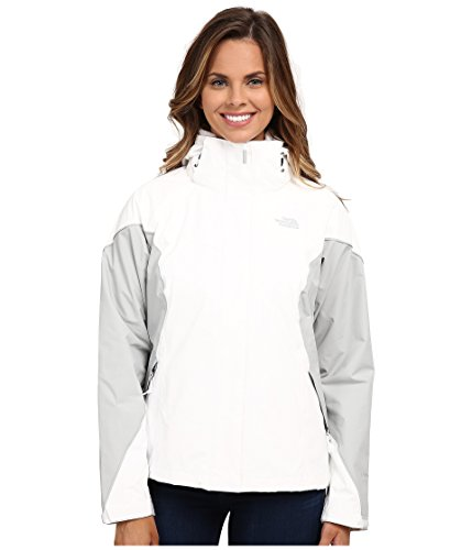 The North Face Women's Boundary Triclimate Jacket, TNF White High Rise Grey, 2XL - North Face Boundary Triclimate Jacket