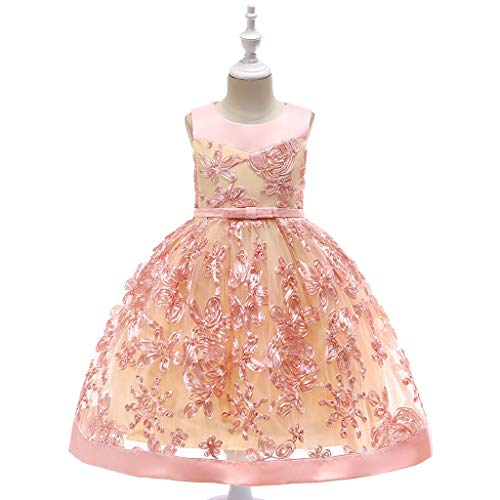 GorNorriss Baby Dress Floral Girl Princess Bridesmaid Pageant Birthday Party Wedding Dress