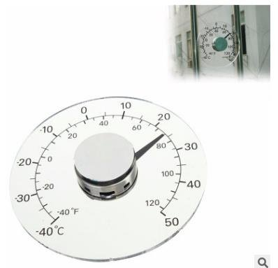Cococina Clear Fahrenheit Celsius Degree Circular Outdoor Thermometer Hygrometer Temperature Humidity Meter