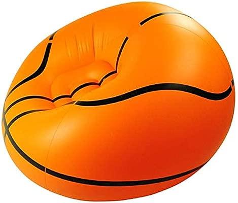 Jiang Hui - Sofá Inflable Impermeable con Forma de balón de Baloncesto, portátil, Resistente al Agua y antiaire, para Adultos y niños, sillón de salón ...