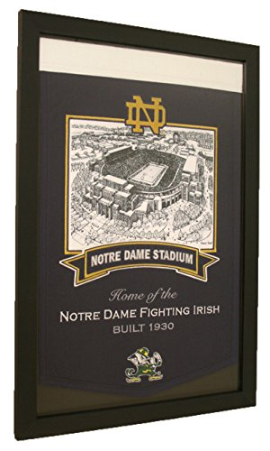 Notre Dame Fighting Irish NCAA Framed Stadium Series Banner by NCAA
