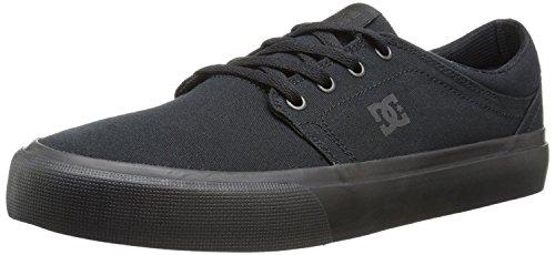 DC Mens Trase TX Unisex Skate Shoe, Black/Black/Black, 38 D(M) EU/5 D(M) UK