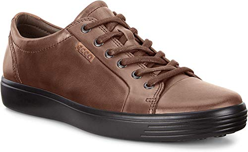 ECCO Men's Kyle Tie Sneaker, Cocoa Brown, 44 M EU (10-10.5 US)