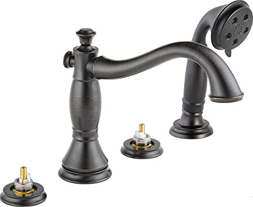 Delta T4797-RBLHP Cassidy Roman Bathtub Faucet with Hand Shower Trim without Handles, Venetian Bronze
