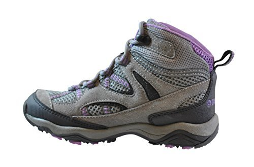 49fed8f0 Gander Mountain Girls' Trail Climber Explorer Mid Hiker Shoes, Grey/Purple,  7