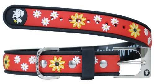Dublin Dog Waterproof Dog Collar, Small 9 inches - 14 inches, Black Eyed Susan