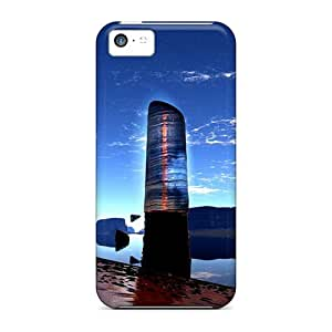 New Shockproof Protection Case Cover For Iphone 5c/ Nature Hd Beach Apocalypse Alteration Water Rocks Sky Case Cover