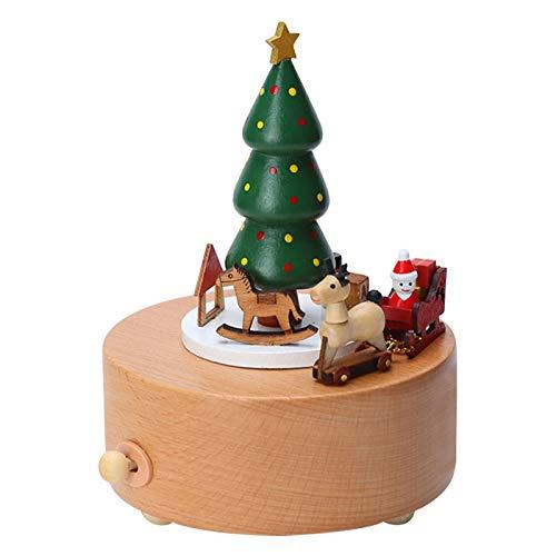 Christmas Present Music Box - Amor Present Christmas Music Box, Wooden Music Box Christmas Tree Girl Musical Box Birthday Wedding Christmas