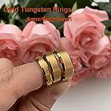 iTungsten 4mm 6mm 8mm 18K Gold Tungsten Carbide