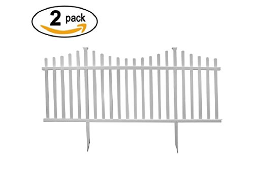 No Fence See Pet - Zippity Outdoor Products Manchester Semi-Permanent Vinyl Fence Kit (2 Pack), 42