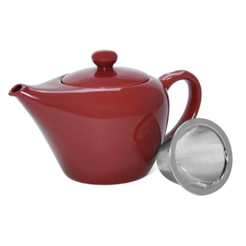 - Chantal Tokyo Teapot with Stainless Steel Infuser, Glossy Apple Red