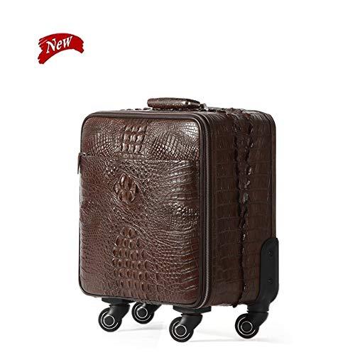 Luggage Sets,High Grade Luxury Genuine Leather Trolley 16 Inch Cabin Suitcase Wheels 100% Alligator Rolling Luggage…