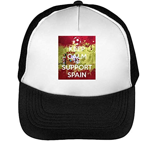 Support Gorras Beisbol Keep Snapback Negro Blanco Calm Hombre Spain 1tx5w