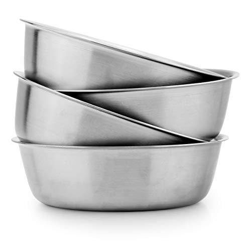 Heavy Duty Stainless Steel Bowls for Baby, Toddlers & Kids (4-Pack); Great for Cereal, Desserts, Children, Portion Control & Even Pets, 1-Cup Serving Size (Dog Childrens Dinnerware)