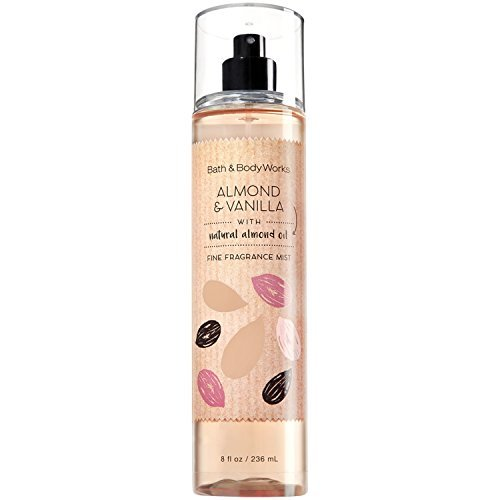 Bath and Body Works Almond Vanilla Fine Fragrance Mist 8 Ounce Full Size
