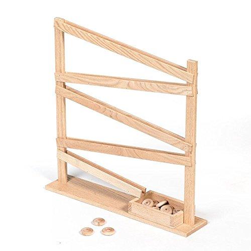 Lehman's Handcrafted Eli & Mattie Amish-Made Single Wheel Roller Toy ()