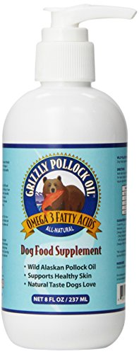 Grizzly Pollock Oil Supplement for Dogs, 8-Ounce