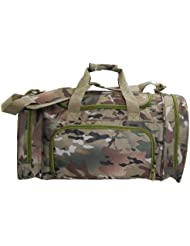 Camo Duffel Bag with Shoe or Wet Items Pocket (Large)
