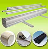 GHP 36''x79'' Aluminum Retractable Roll Up Banner Stands for 35.5''x79'' Banner