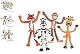(24) 4'' Zoo Animal Bendables ~ FUN TOY ~
