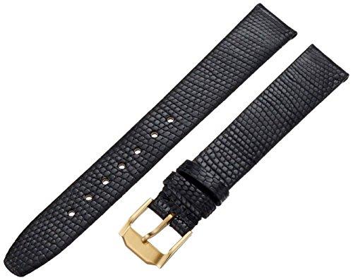 Hadley-Roma Men's MSM973RA-150 15-mm Black Java Lizard Leather Watch Strap