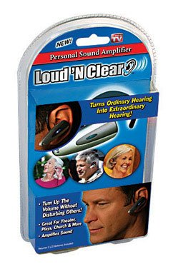 Pack of 4 As Seen on TV Loud and Clear Compact Personal Sound Amplification System