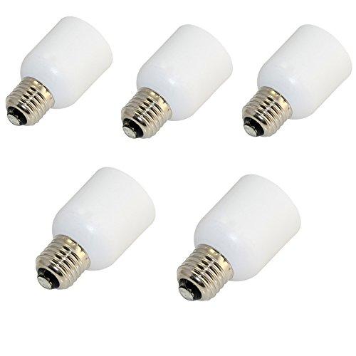 5Pcs E12 TO E27 LED Light Bulb Lamp Screw Socket Base Converter Adaptor Holder