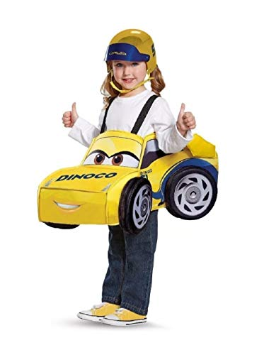 Toddlers' 3-D Cars 3 Cruz Ramirez Race Car Costume with Adjustable Straps - Fits Up to Size 6 ()