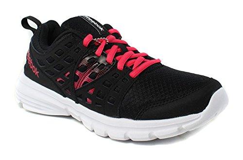 Reebok Women's Speed Rise Running Shoe, Black/Blazing Pink/White, 5.5 M US