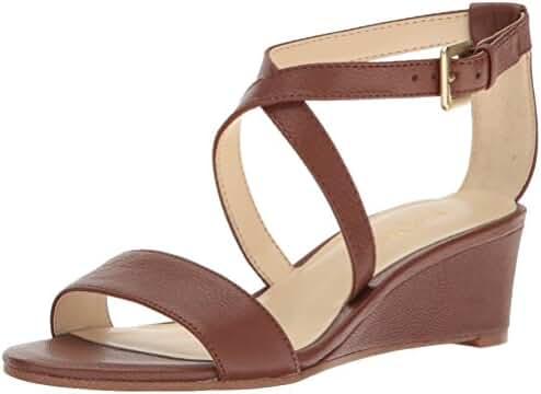 Nine West Women's Lacedress Leather Wedge Sandal
