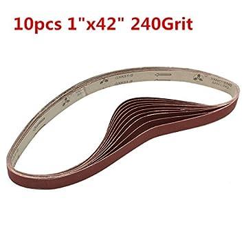 Hitommy 3 bandas de lija de 106 cm x 25 mm de alumina, 400 ...