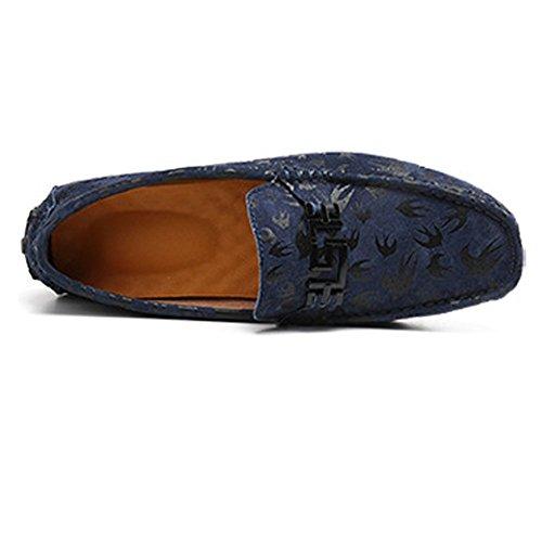 Vamp Armada Blanco Holgazanes Ligeros Lovers conducción de tamaño de de para Los Color 2018 Mocasines EU Boat Zapatos Penny Hombre impresión Hombres Shufang 40 shoes Cuero Mocassins Genuino q7pAxgU