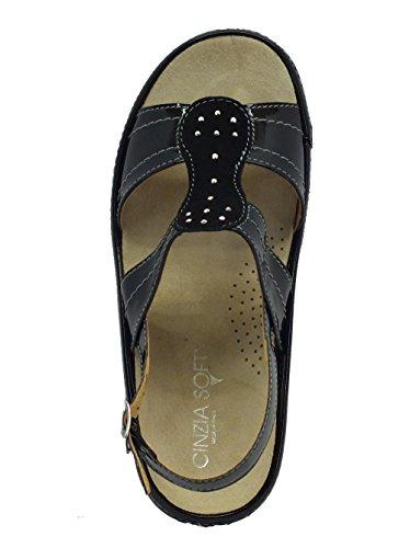 Cinzia Soft Io568p-v Vernice Nera - Sandalias de vestir de Piel para mujer negro