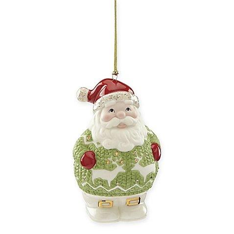 - Lenox 2017 Holiday Gems Santa Ornament