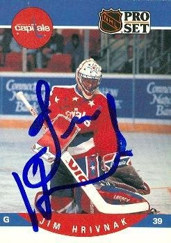 8b8792f2ed3 Jim Hrivnak autographed Hockey Card (Washington Capitals) 1990 Pro Set  646  - Autographed
