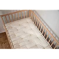 Home of Wool/Wool-Filled Crib Mattress/Natural Color/Cotton, Linen or Wool Cover/Oeko-Tex Certified Wool/Non-toxic Natural Nursery Bedding/Made-to-Order/Custom Sizes and Shapes Available