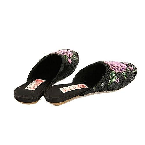 Interact Estar Zapatillas Para Mujer China Por Casa Negro De qrtrw5 26bb34de3c55